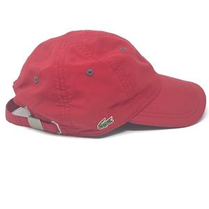 Lacoste Red Baseball Cap